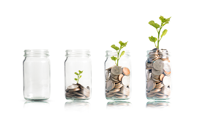 coins-in-jar-with-growing-plant-AS-300377617