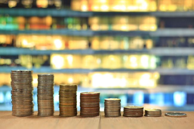 coins-trending-downward-depreciation-AS-183694071