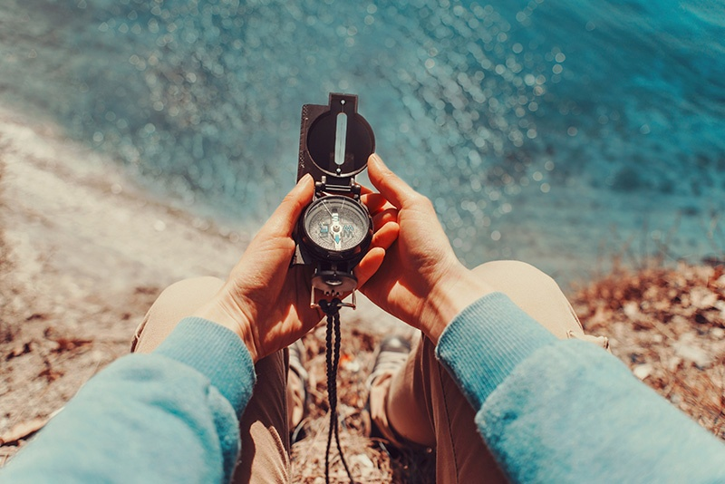 Investor using a compass to find his Qualified Intermediary