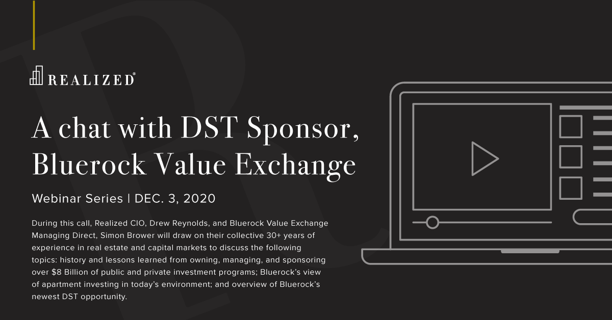 A chat with DST Sponsor, Bluerock
