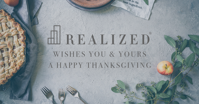Happy Thanksgiving From The Realized Family